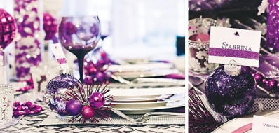 Purple table details