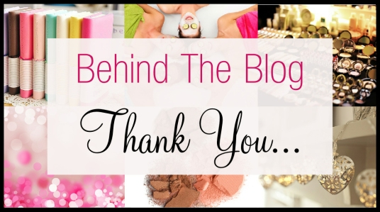 Behind The Blog Thank You