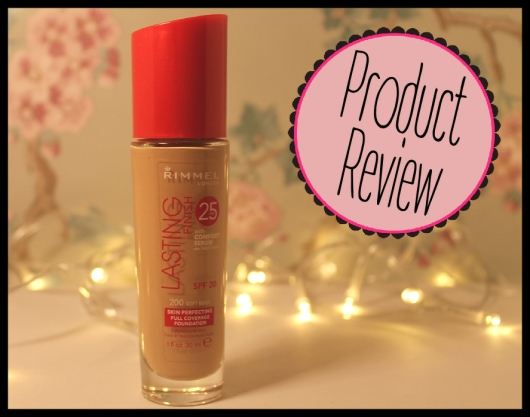 Rimmel Lasting Foundation Review