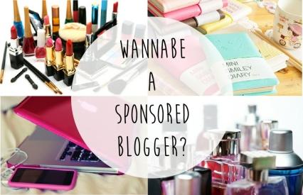 Sponsored blogger