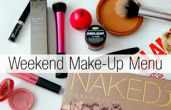 Weekend Makeup Menu