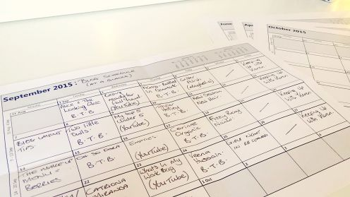 Monthly Blog Planner
