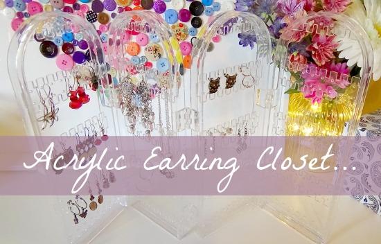 Acrylic Earring Closet