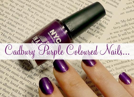 Cadbury Purple Coloured Nails