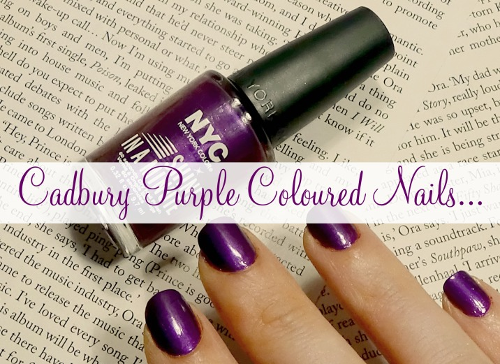 Cadbury Purple Coloured Nails