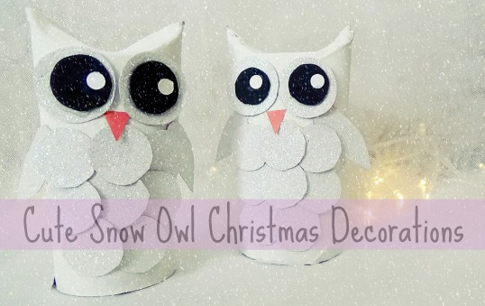 Cute Snow Owl Christmas Decoration Crafts