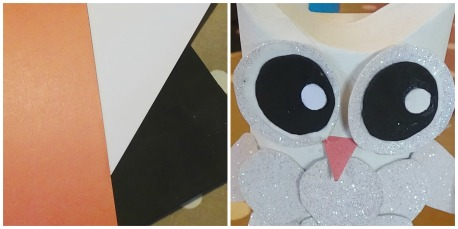 DIY Snow Owl Craft Tutorial Collage 4