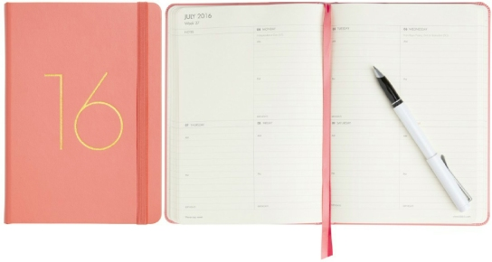 Kikki Kweekly_leather_diary_watermelon