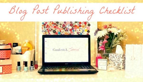 Blog Post Publishing Checklist