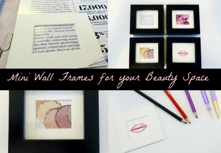 DIY Cute Miniature Beauty and Office Frames
