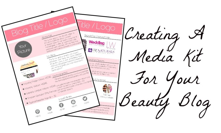 How To Create A Media Kit For Beauty Blogging