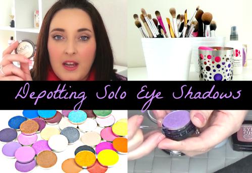 Depotting solo eye shadows tutorial 1