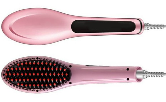 electric hair straightening brush review