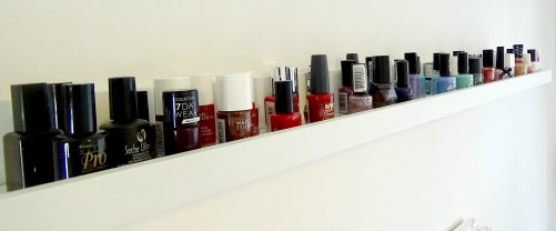 Ikea Picture Shelf Nail Polish Storage