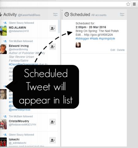 scheduled tweet