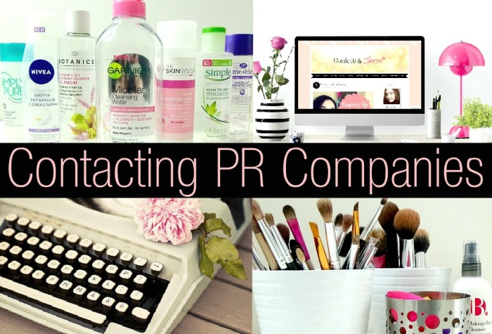 Tips On Contacting PR Companies for Beauty Bloggers