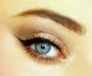 Copper and Gold Metalic Eye Makeup Revolution Redemption Iconic 2 Palette