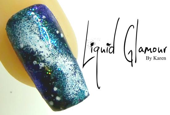 Liquid Glamour Galaxy Nail