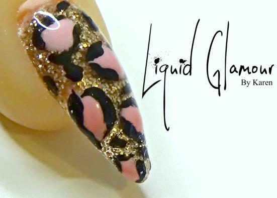 Liquid Glamour Glitzy Leopard Print Nail