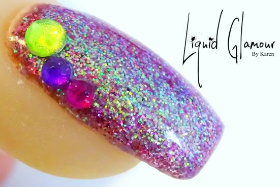 Liquid Glamour Raspberry & Purple Glitter