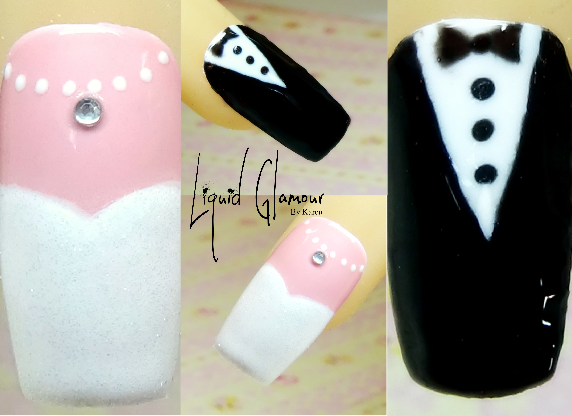 Bride & Groom Nail Art