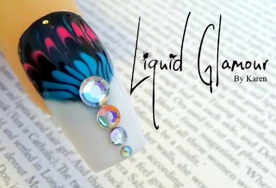 Marble Gel Nail Art