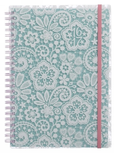 WHSmith Mint Lace diary