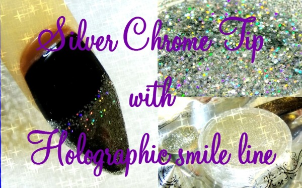 chrome-tip-nail-with-holographic-smile-line